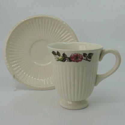 Wedgwood Briar Rose Koffiekop met Schotel
