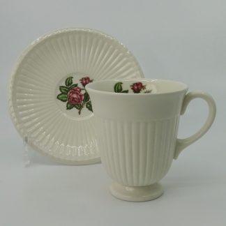 Wedgwood Moss Rose Koffiekop met Schotel