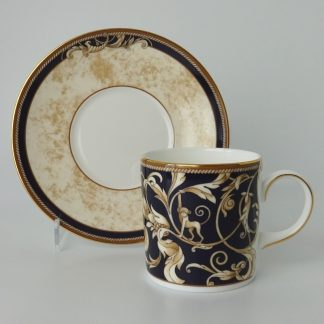 Wedgwood Cornucopia Koffiekop Can met Schotel