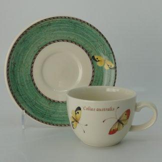 Wedgwood Sarah's Garden Espressokop met Schotel Groen