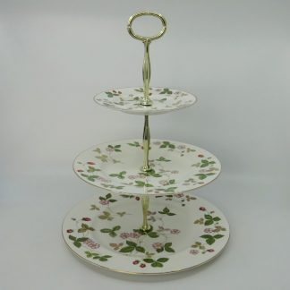 Wedgwood Wild Strawberry Etagère 3-laags