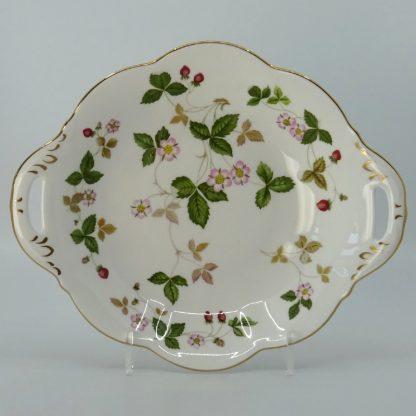 Wedgwood Wild Strawberry Serveerschaal 22,5 cm Goud