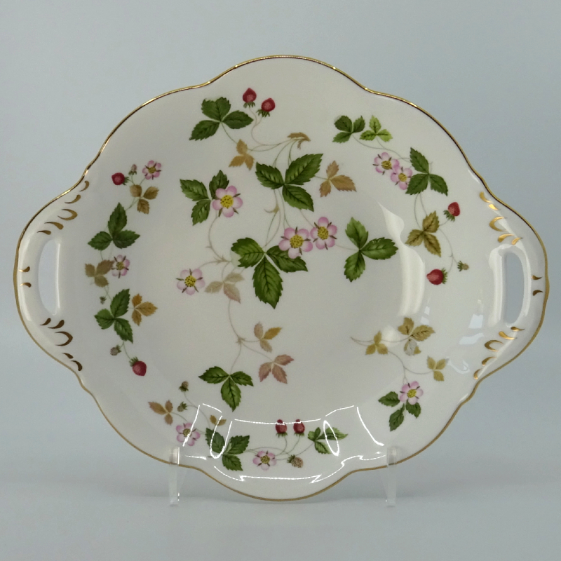 Wedgwood Wild Strawberry Serveerschaal 22,5 cm Goud