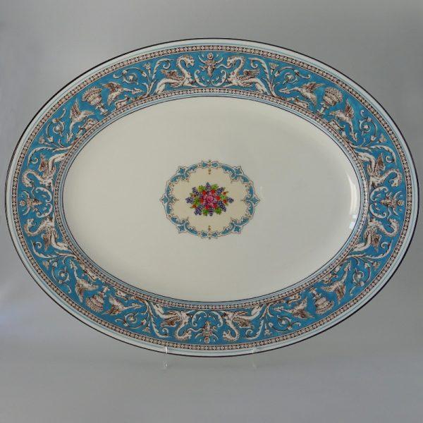 Wedgwood Florentine Turquoise Serveerschaal Ovaal 43.5 cm