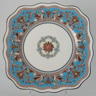Wedgwood Florentine Turquoise Bord Vierkant 21 cm