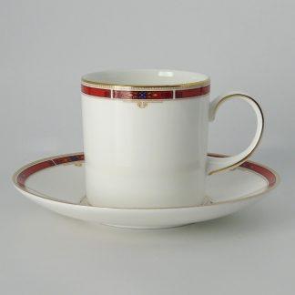 Wedgwood Colorado Koffiekop Can met Schotel