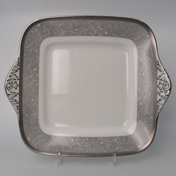 Wedgwood Celestial Platinum Gebakschaal Vierkant 27,5 cm